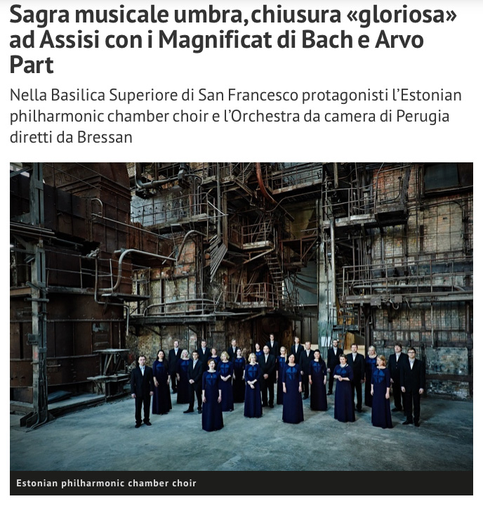 Estonian Philarmonic Choir Assisi
